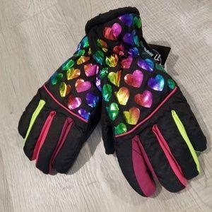 NEW girls M/L ski gloves